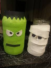 Halloween Decoration Craft Mason Jar Halloween Decor Part Ii The Not So Crafty Mom