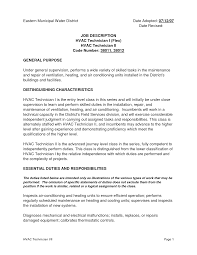 Examples Of Hvac Resumes by Pharmacy Technician Duties For Resume Free Resume Example And