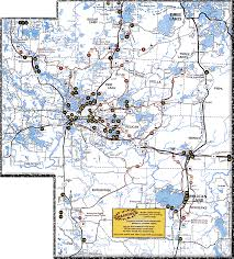 Wisconsin Map With Counties by Wisconsin Counties Online Snowmobile Trail Maps Hcs Snowmobile