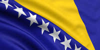The flag of Bosnia and Herzegovnia