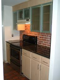 Red White And Black Kitchen Ideas Tiny And Narrow Kitchen Decoration Ideas With Faux Red Brick Wall