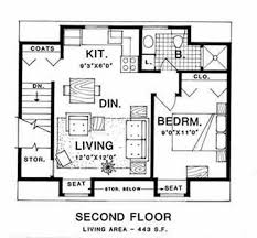 country style house plan 1 beds 1 baths 443 sq ft plan 116 126