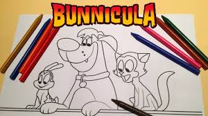 bunnicula happy family coloring new cartoon network youtube