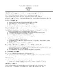 Preschool Resume Template Sample Preschool Teacher Resume Objective
