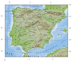 Spain Political Map by Spain Physical Map Imsa Kolese