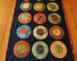 Quilted Table Runners by Modern Table Runner Etsy