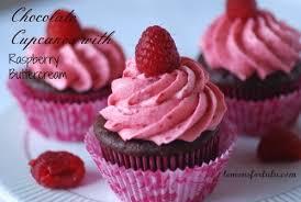 chocolate cupcakes raspberry buttercream virtual
