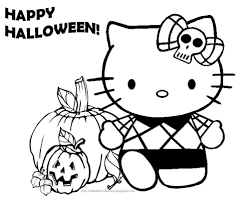 halloween coloring page kindergarten coloring page