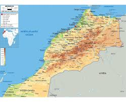 Physical Map Of Africa by Maps Of Morocco Detailed Map Of Morocco In English Tourist Map