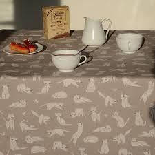 nappe ronde enduite 160 nappe de table motif chat large choix de produits à découvrir