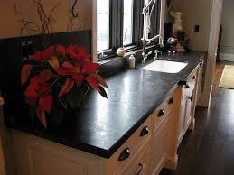 kitchen in antique brown with a leather finish the leather finish