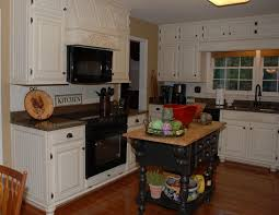 awesome vintage white kitchen decors with black granite