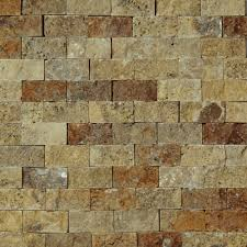 1 x 2 split face mosaic tile scabos travertine honed wall floor
