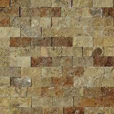 Mosaic Tiles For Kitchen Backsplash 1 X 2 Split Face Mosaic Tile Scabos Travertine Honed Wall Floor