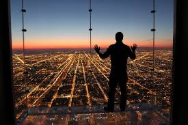 post grad problems a sunset at the skydeck of the willis tower