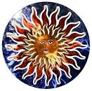 3D Sun Face Metal Outdoor Wall Art - contemporary - outdoor decor ...