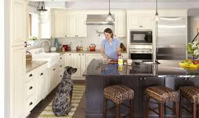 two tone kitchen design gray u0026 cream cabinets