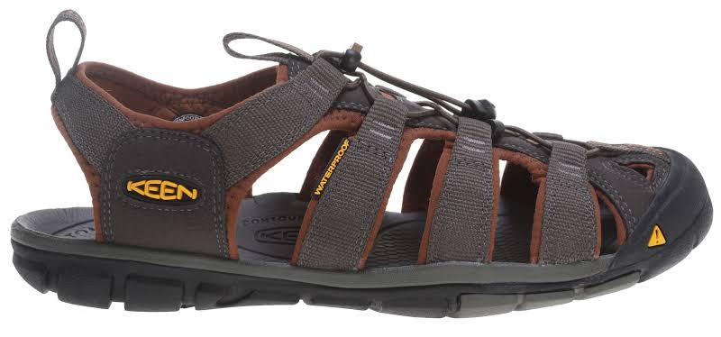 KEEN Clearwater Cnx Sandals Raven/Tortoise Shell 10.5 1014456-600-10.5