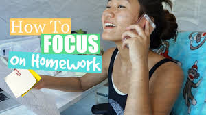 Tips On  HOW TO FOCUS ON YOUR HOMEWORK YouTube