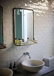 Crackled Subway Tile Eclectic Bathroom - Crackle subway tile backsplash