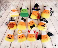 halloween decor candy corn felt toy halloween party halloween