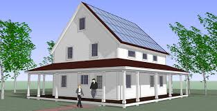 Farmhouse Kit Net Zero Energy House In A Kit Greenbuildingadvisor Com