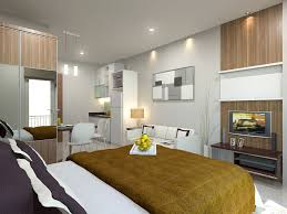 One Bedroom Apartment Designs by Dazzling Single Bedroom Apartment Interior Design Ceiling Recessed