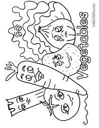printable healthy eating chart coloring pages with vegetables
