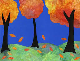 fall collage with coffee filters art projects for kids