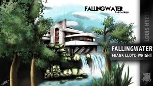 fallingwater architecture speed painting 1 youtube