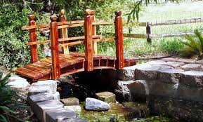 pond bridges and cusom built koi pond bridges