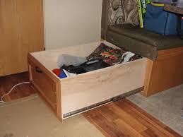 rv net open roads forum large storage drawer under the bench seat