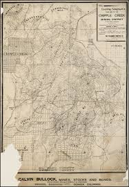 Map Of Utah And Colorado by The Evening Telegraph U0027s Claim Map Of The Cripple Creek Mining