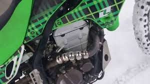 kawasaki klx 250 работа двигателя после подтяжки цепи грм youtube