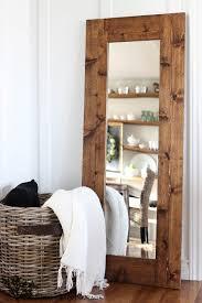 Mirror Ideas For Bathroom by Diy Wood Framed Mirror The Wood Grain Cottage