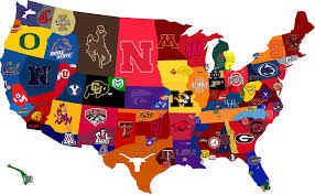 Unm Map Map Of Fbs Football Schools Who Should Be In The Big 12 Page