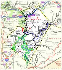 Map Of West Virginia Counties Cycling Scenic Wv Summers County