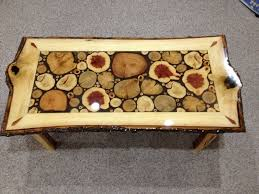 custom made log slice coffee tables wood work pinterest logs