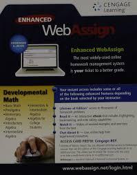DEVELOPMENTAL MATH WEBASSIGN A  WEBASSIGN                 Amazon