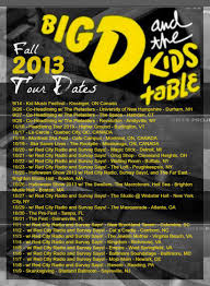 big d u0026 the kids table announce fall tour halloween show brighton
