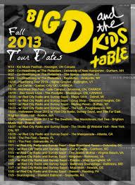 big d u0026 the kids table announce fall tour halloween show brighton