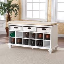 Storage Bench With Hooks by Shoe And Boot Storage Bench Storage Seat For Hallway 4 Tips And