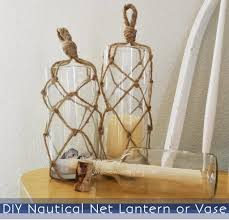 Nautical Home Accessories Nautical Net Lantern U0026 Vase Craftmonthlove While He Was Napping