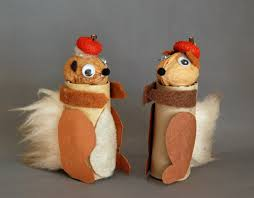 that artist woman paper roll squirrel