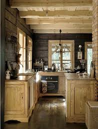 rustic retreat small rustic cabin kitchen log homes pinterest