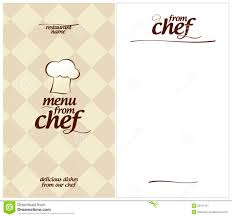 resume examples for chefs special chef menu template special menu from chef design template and the form for a list of