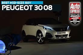 peugot 3008 mid size suv of the year 2017 peugeot 3008 new car awards 2017