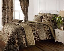 full bed set u0026 matching curtains 8 piece animal print design