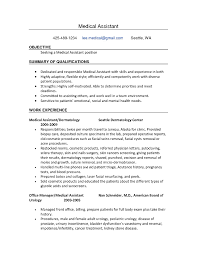 Phlebotomist Resume Sample No Experience by Medical Assistant Example Resume Resume Cv Cover Letter