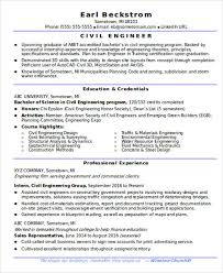 Civil Engineering Resume Samples by 22 Fresher Resume Templates In Word Free U0026 Premium Templates